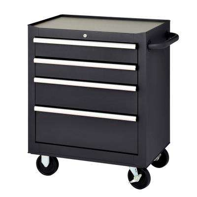 27 in. 4-Drawer Mobile Tool Chest, Black