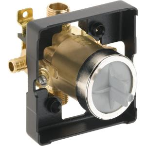 multichoice universal tub and shower valve body rough in kit with 1 2 in pex crimp connections. Black Bedroom Furniture Sets. Home Design Ideas