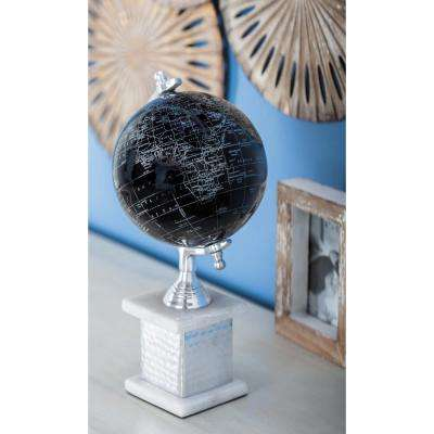 Modern Decorative Globe in Black and Silver
