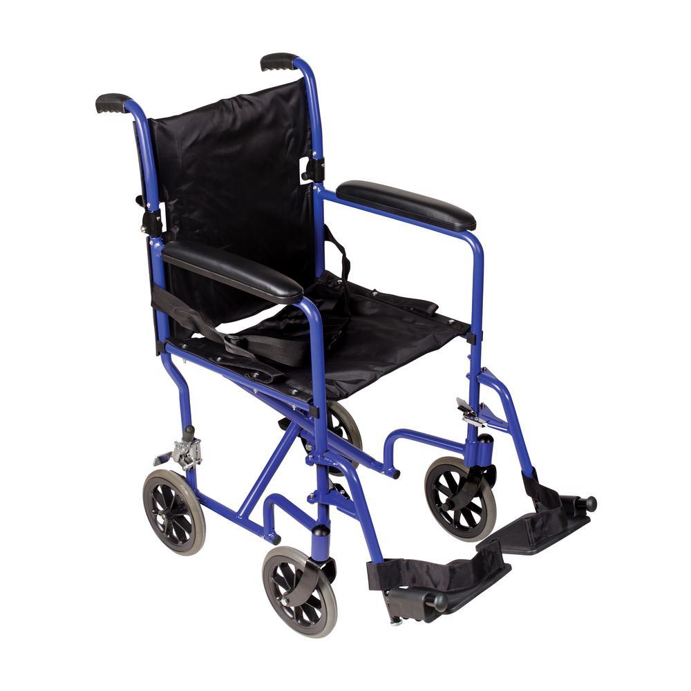 DMI Ultra Lightweight Transport Chair in Aluminum