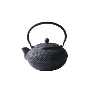 52 Oz Matte Black Cast Iron Saga Teapot