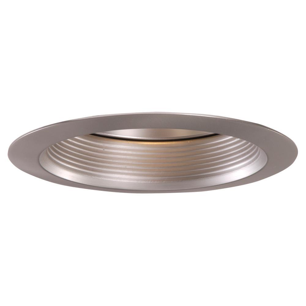 30 Series 6 in. Satin Nickel Recessed Ceiling Light Baffle Air-Tite Super Trim