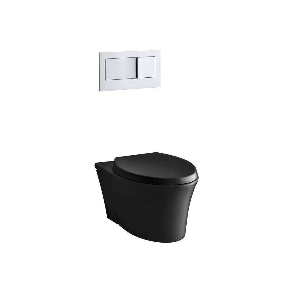 KOHLER Veil Wall-Hung 1-piece 0.8/1.6 GPF Dual Flush Elongated ...