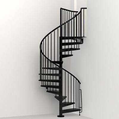 Civik 47 in. Black Spiral Staircase Kit