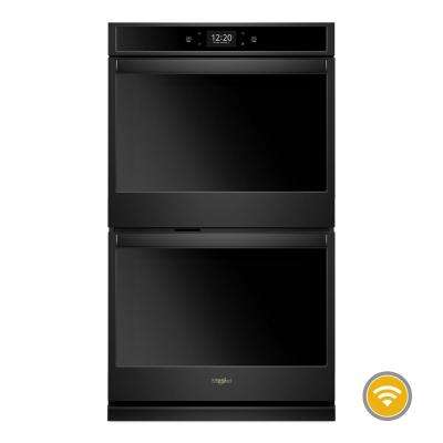 30 in. Smart Double Electric Wall Oven with True Convection Cooking in Black