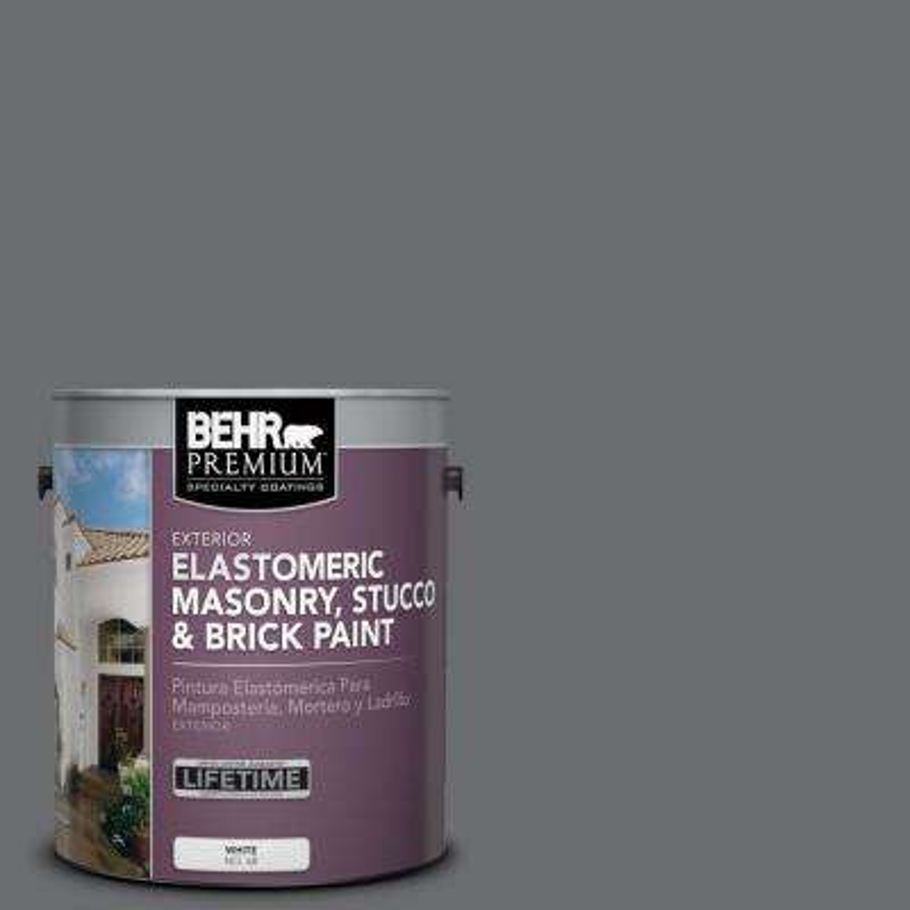 1 gal. #770F-5 Dark Ash Elastomeric Masonry, Stucco and Brick Paint