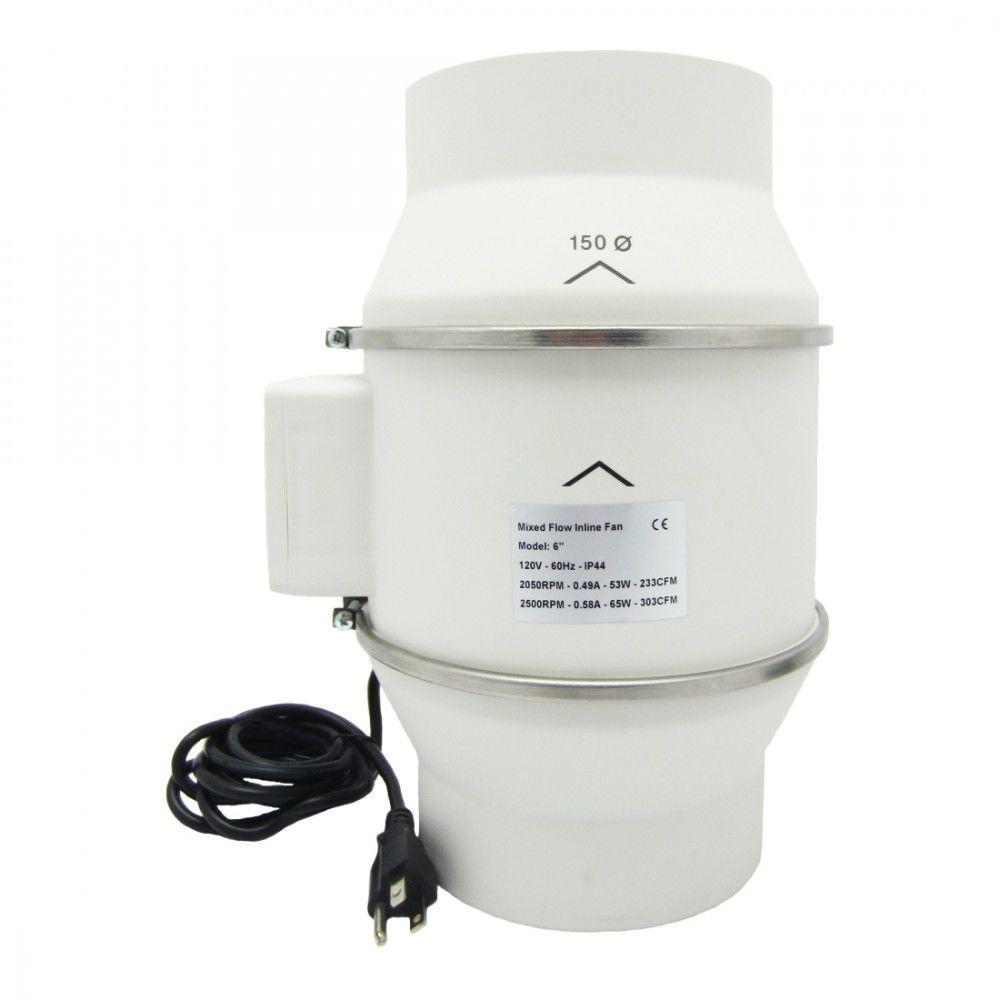 6 in. 303 CFM Ceiling or Wall Inline Bathroom Exhaust Fan