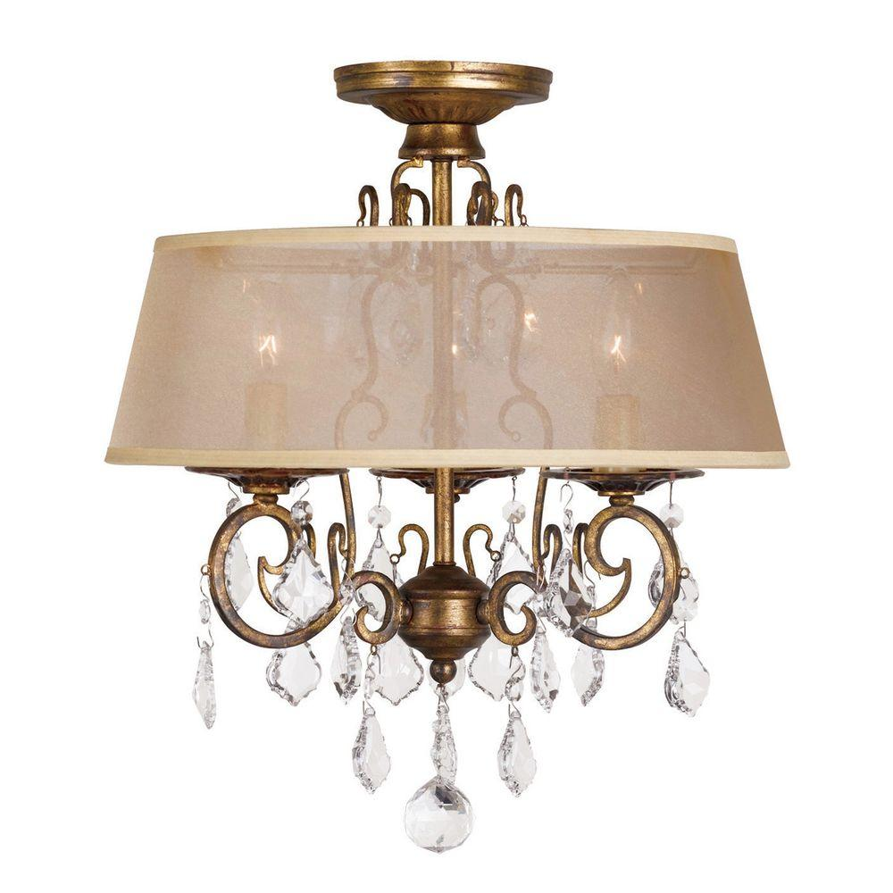 light antique gold flushmount chandelier. world imports  in light antique gold flushmount chandelier