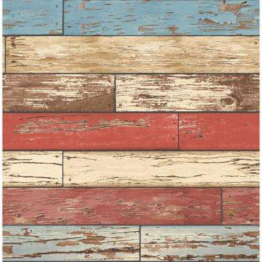 Wynona Multicolor Scrap Wood Wallpaper Sample