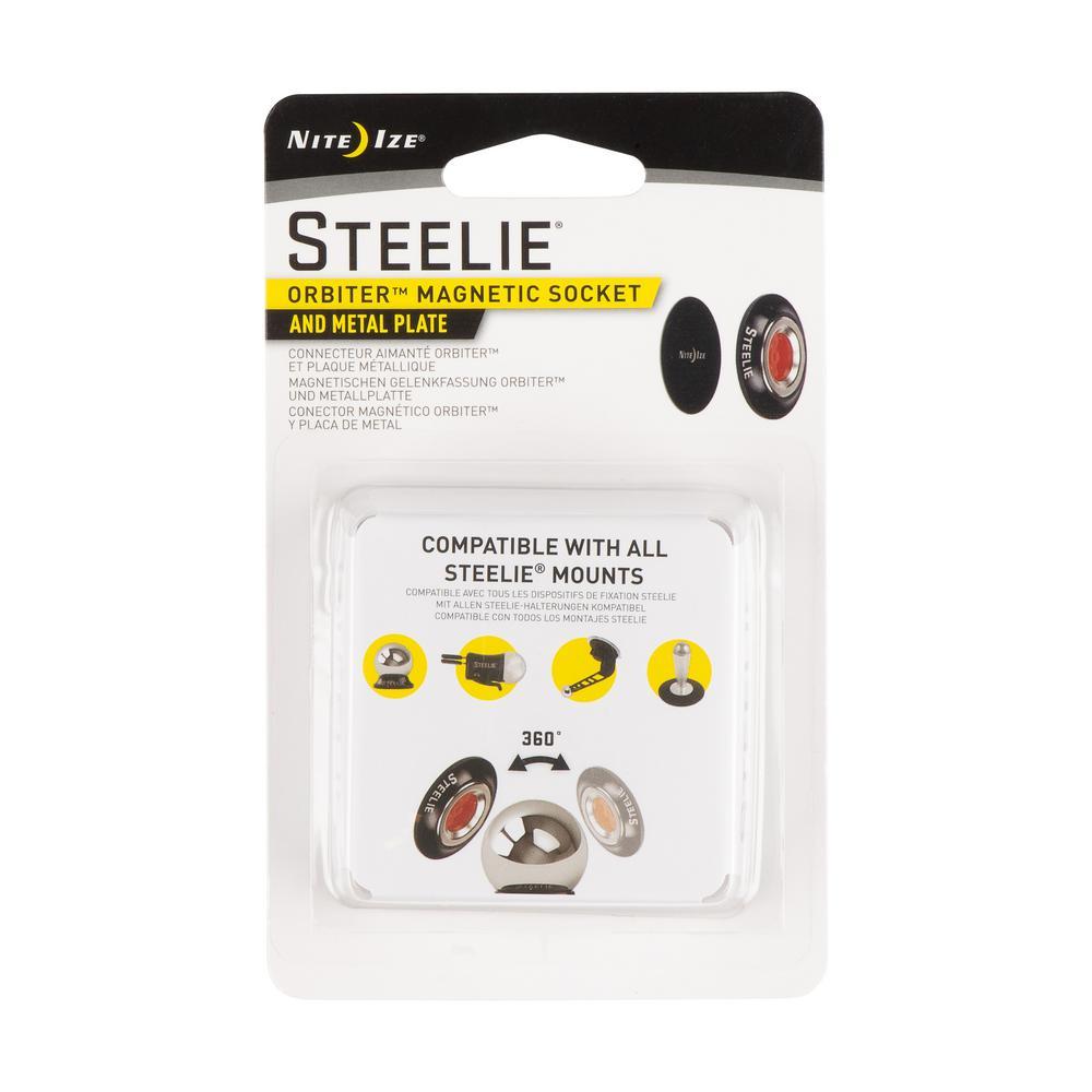 Steelie Orbiter Magnetic Socket and Metal Plate