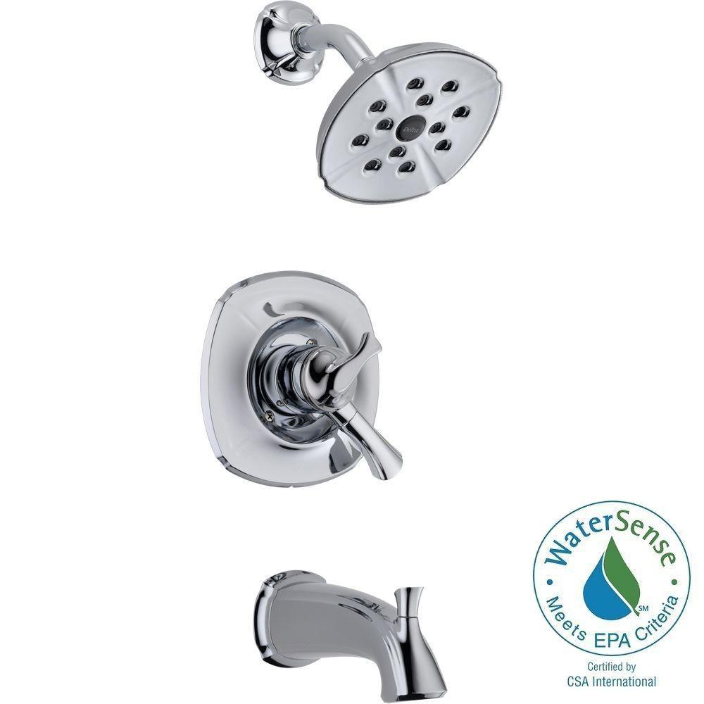 Addison 1-Handle H2Okinetic Tub and Shower Faucet Trim Kit in Chrome