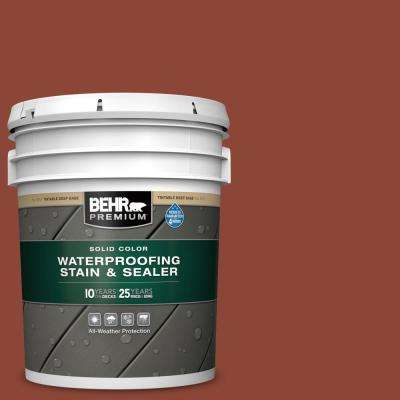 5 gal. #SC-330 Redwood Solid Color Waterproofing Exterior Wood Stain and Sealer