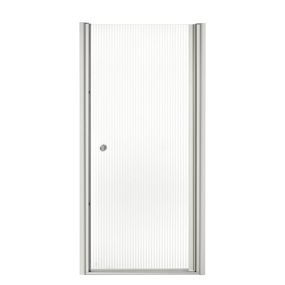Fluence 32-3/4 in. x 65-1/2 in. Semi-Frameless Pivot Shower Door in