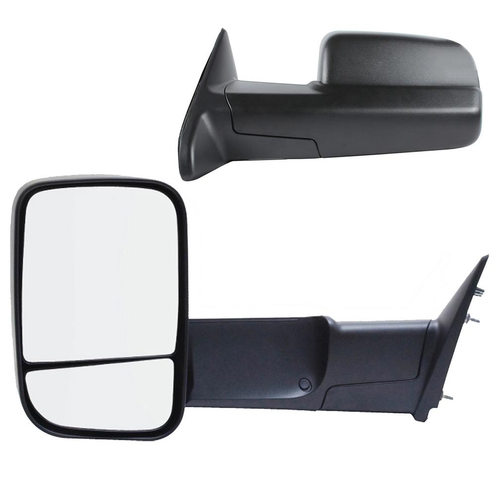 Power Heated Towing Mirror Fit 10 11 12 13 14 15 Ram 1500 2500 Puddle Light