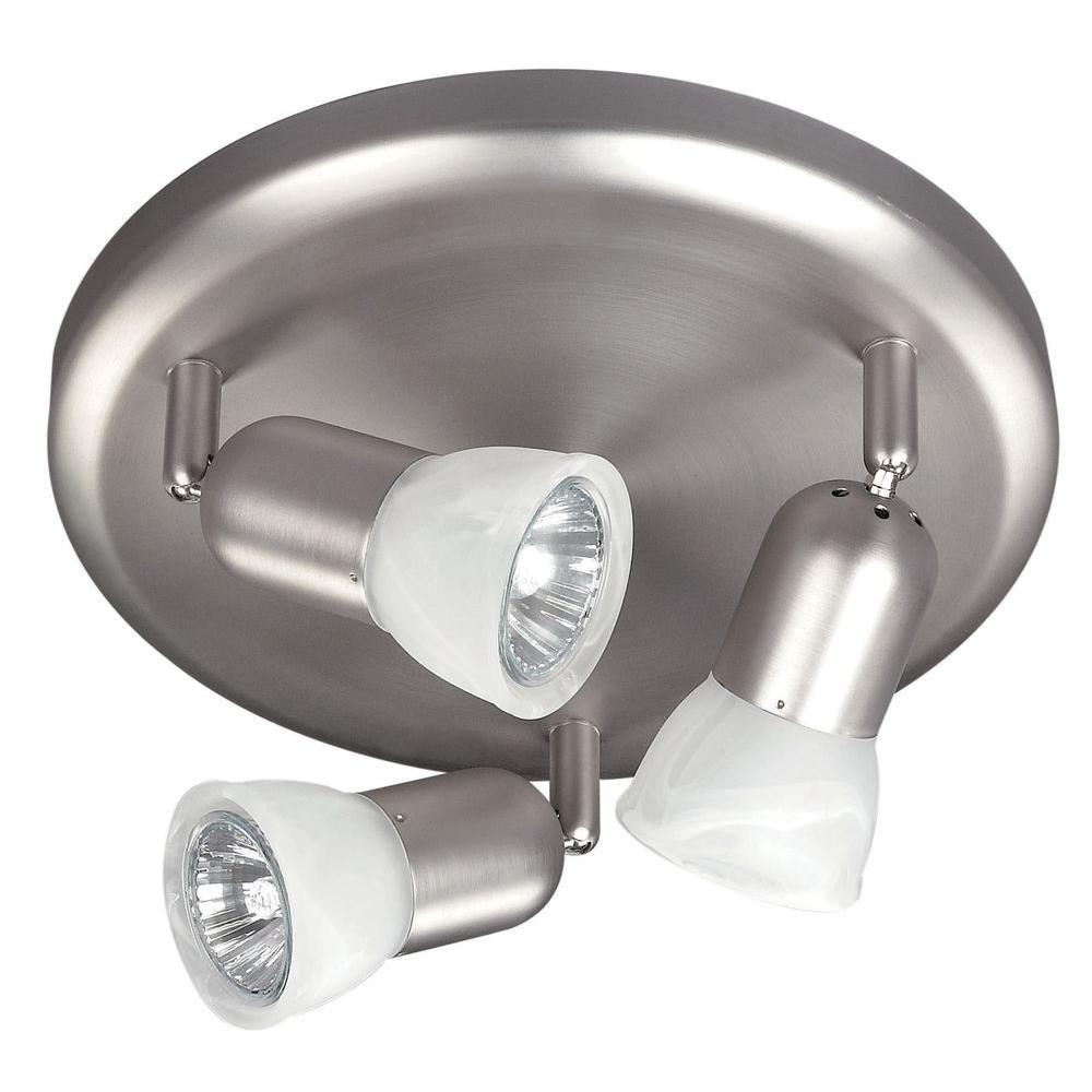 James 3-Light Brushed Pewter Flush Mount
