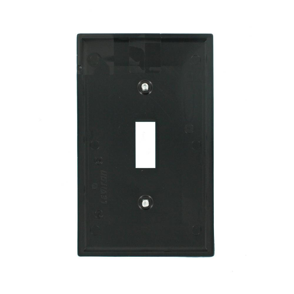 Leviton Decora Black 1 Gang Decorator Rocker Wall Plate 80701 E The Home Depot