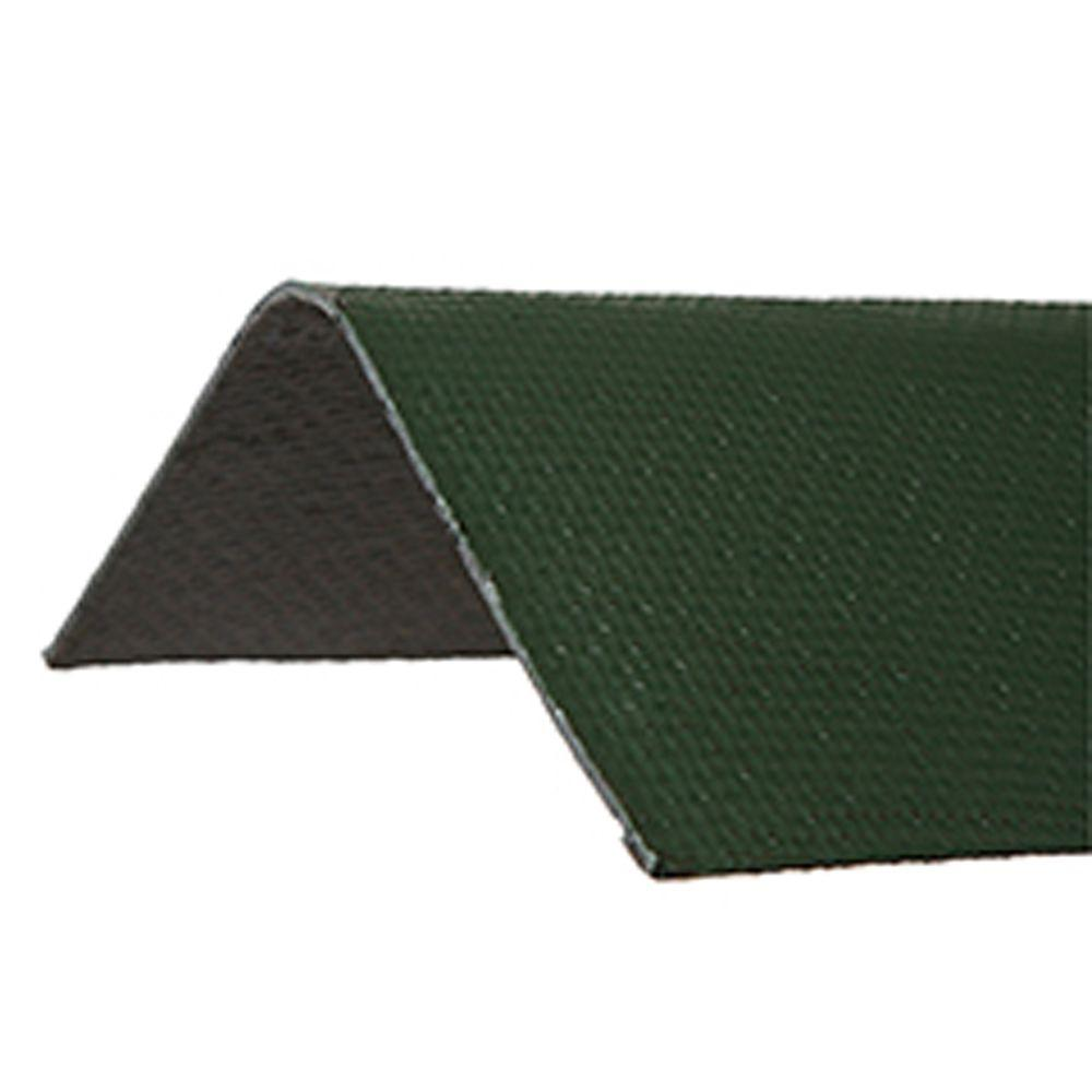 Ondura 6 5 Ft X 12 5 In Green Asphalt Roof Panel Ridge