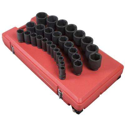 3/4 in. Drive Deep Impact Socket Set (29-Piece)