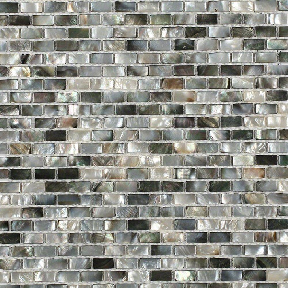 Splashback Tile Mother of Pearl Deep Ocean Gray 12 in. x ...
