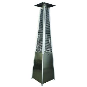 HomComfort 34,000 BTU Stainless Steel Square Pyramid Gas Patio Heater by HomComfort
