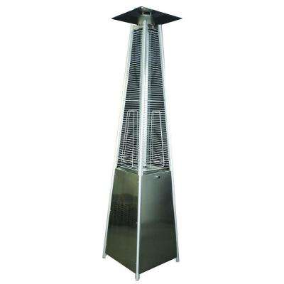 34,000 BTU Stainless Steel Square Pyramid Gas Patio Heater
