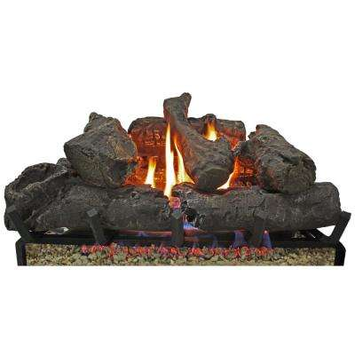 24 in. Gas Fireplace Logs- No Burner