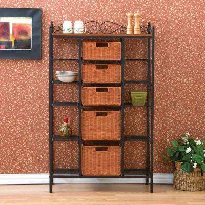 Manilla Steel 31-1/2 in. W Baker's Rack with 5-Drawers