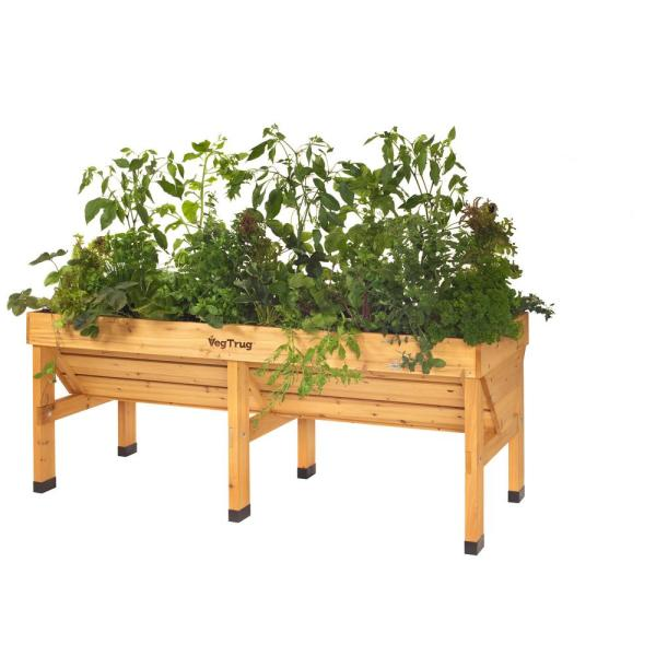 1.8 m Natural Cedar Raised Bed Planter