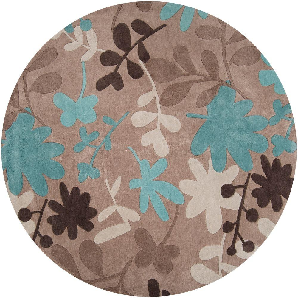 Artistic Weavers Meredith Taupe 8 Ft X 8 Ft Round Area Rug