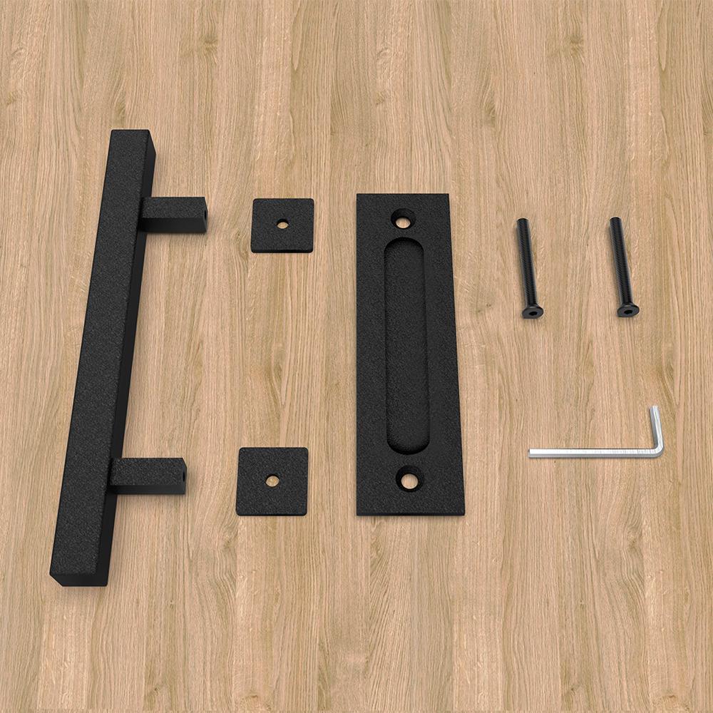 Heavy Duty 12 Pull And Flush Barn Door Handle Set Kitchen Cabinet Square Door