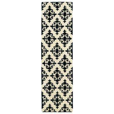 Evolution Black 2 ft. x 8 ft. Runner Rug