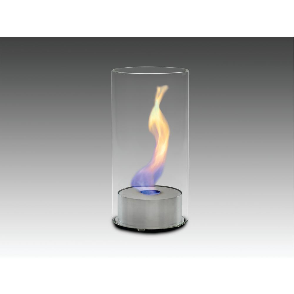 Juliette 6 in. Ethanol Tabletop Fireplace in Stainless Steel