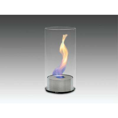 Juliette 6 in. Ethanol Tabletop Fireplace in Stainless Steel