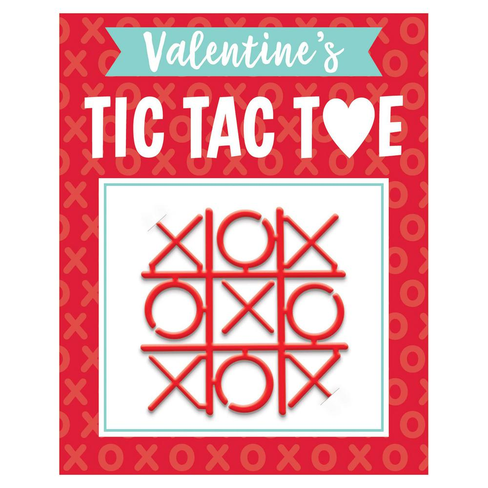 5 in. Valentine's Day Tic Tac Toe Game (12-Count, 5-Pack)