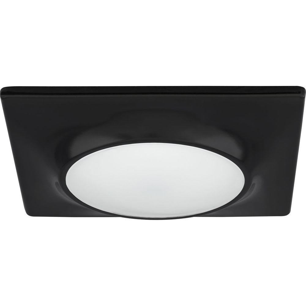 Progress Lighting 7-1/4 in. Square 1-Light Black LED Surface and ...