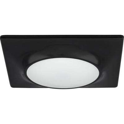 7-1/4 in. Square 1-Light Black LED Surface and Recessed Mount Light