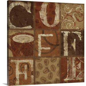 Greatbigcanvas 16 In X 16 In Coffee Collage I By Sparx Studio Canvas Wall Art 1904650 24 16x16 The Home Depot