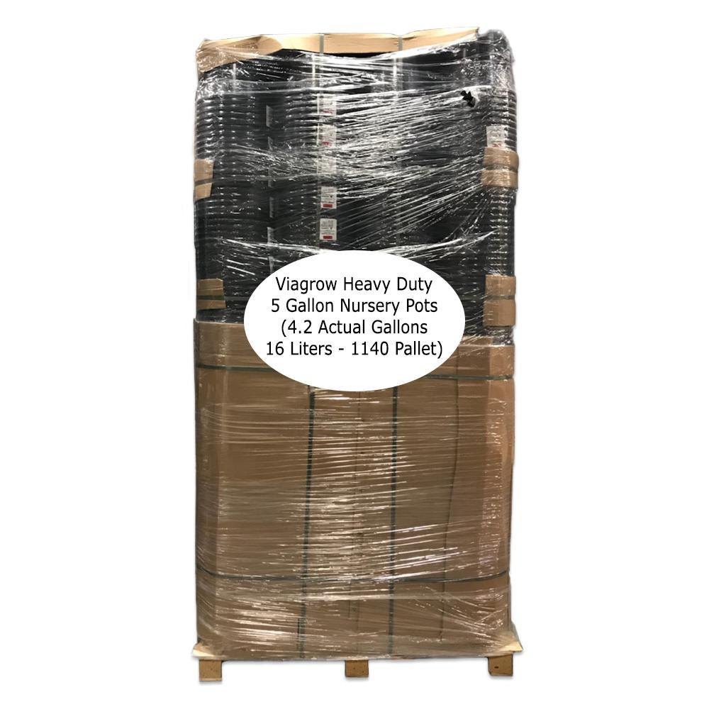 5 Gal. Heavy-Duty Plastic Trade Nursery Pots (1140 Per Pallet)