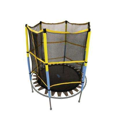 Trampoline Replacement Jumping Band Mat With Attached Safety Net For 55 in. Round Frame-Clips Included-Net & Mat Only
