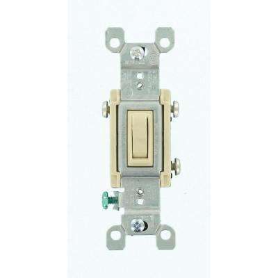 15 Amp 3-Way CO/ALR AC Quiet Toggle Switch, Ivory