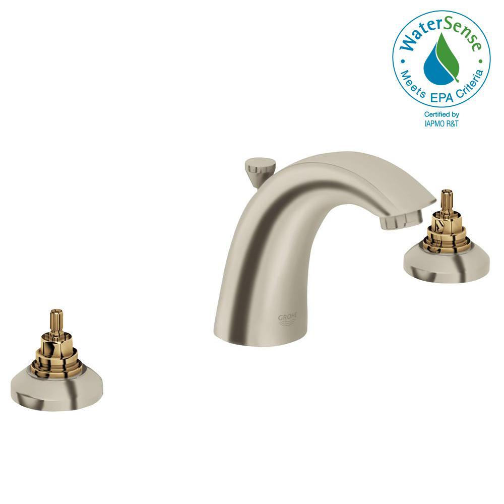 Arden 8 in. WIdespread 2-Handle Bathroom Faucet in Brushed Nickel Infinity Finish