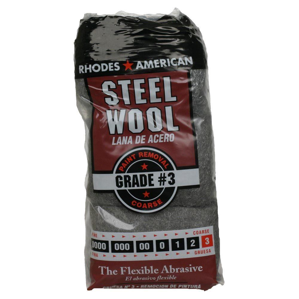 Homax #3 12 Pad Steel Wool, Coarse Grade-10121113 - The Home Depot