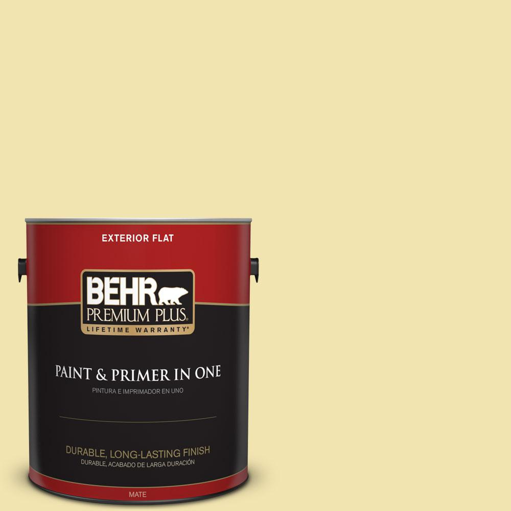 1-gal. #P330-2 Lime Bright Flat Exterior Paint