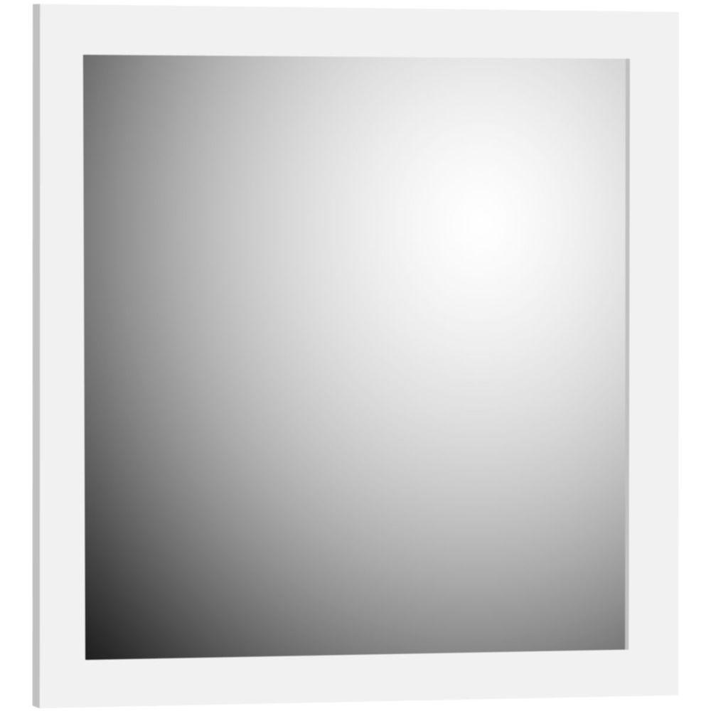 Shaker 30 in. W x 32 in. H Framed Rectangular Bathroom Vanity Mirror in satin white