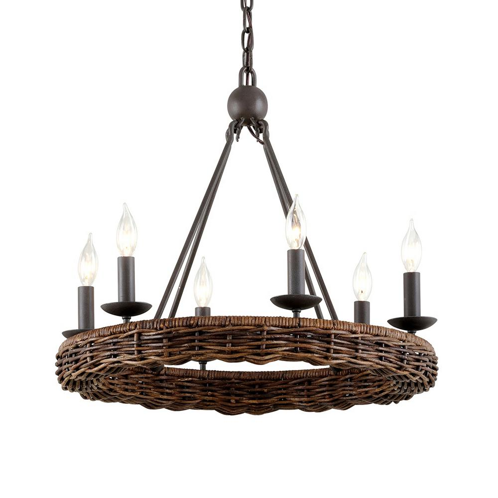 Nest 6 Light Brooklyn Bronze Chandelier