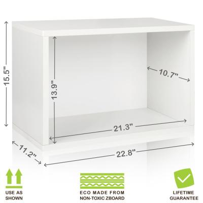 16 in. H x 23 in. W x 11 in. D White Recycled Materials 1-Cube Storage Organizer