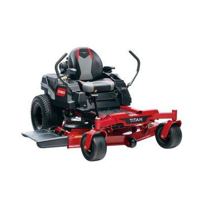 TITAN 54 in. IronForged Deck 24.5 HP Commercial V-Twin Gas Dual Hydrostatic Zero Turn Riding Mower