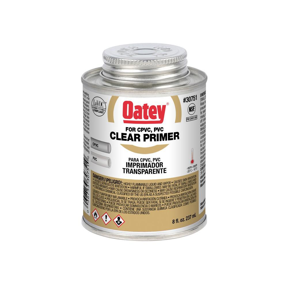 Oatey 8 oz. PVC Clear Pipe Primer
