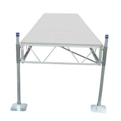 24 ft. Straight Dock with Gray Aluminum Decking