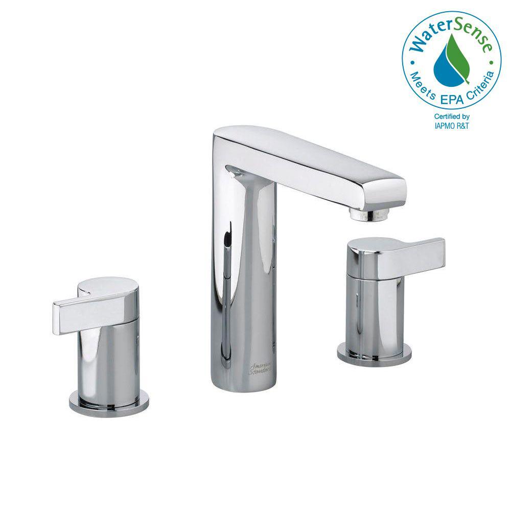 American standard studio 8 in widespread 2 handle mid arc bathroom faucet in
